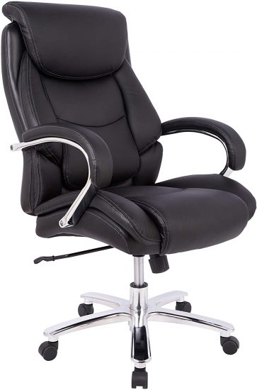 AmazonBasics Big & Tall Executive, Adjustable, Swivel Office Chair