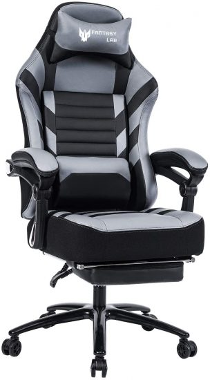 FANTASYLAB High Back Massage Memory Foam Reclining Gaming Chair