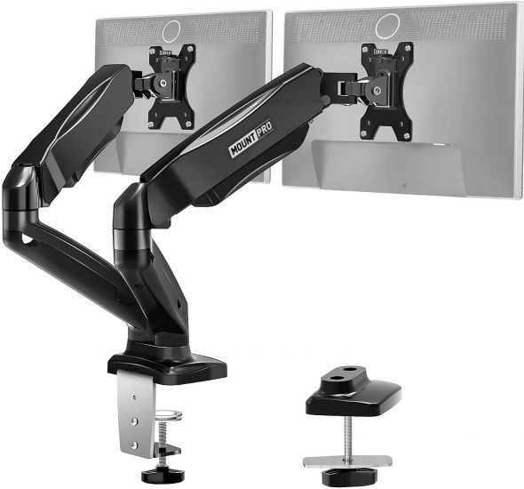 MOUNT PRO Dual Monitor Desk Mount
