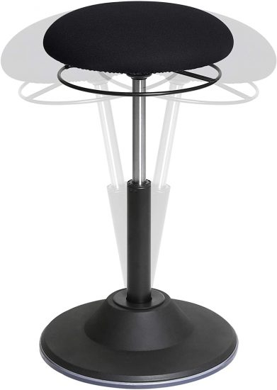 Seville Classics Airlift 360 Sit-Stand Adjustable Ergonomic Active Balance Non-Slip Desk Stool