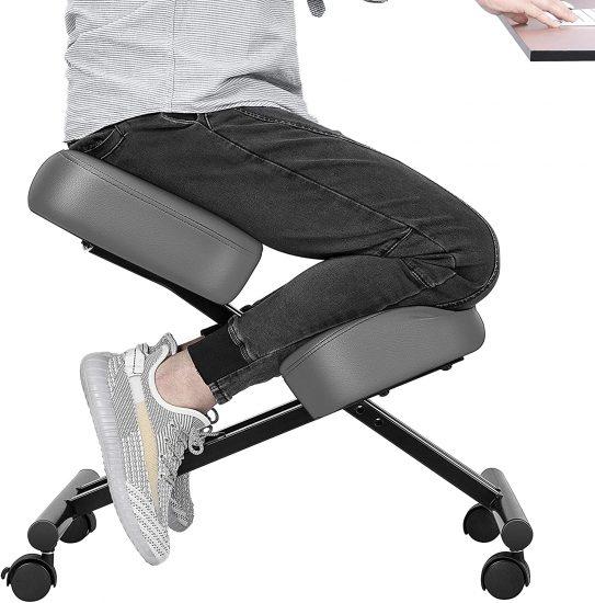 VIVOHOME Ergonomic Kneeling Chair Adjustable Stool