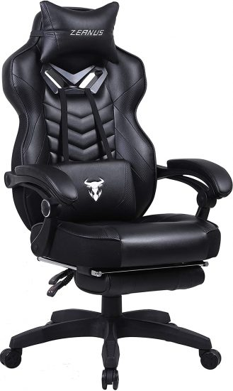 Zeanus Gaming Chair with Footrest