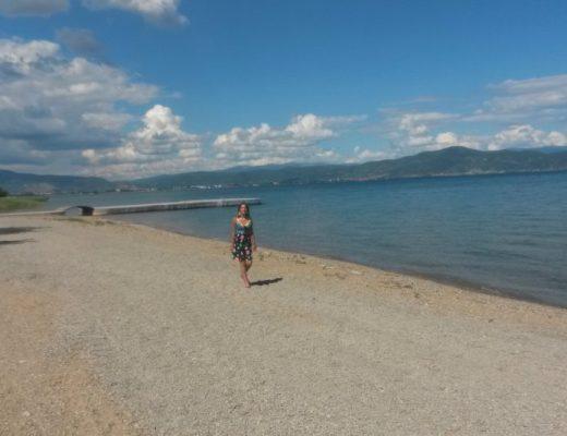 sabine op het strand