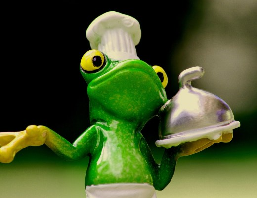 kikker serveert eten