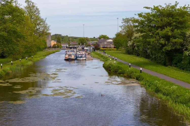 Pleasure boats in the Royal Canal castleknock dublin