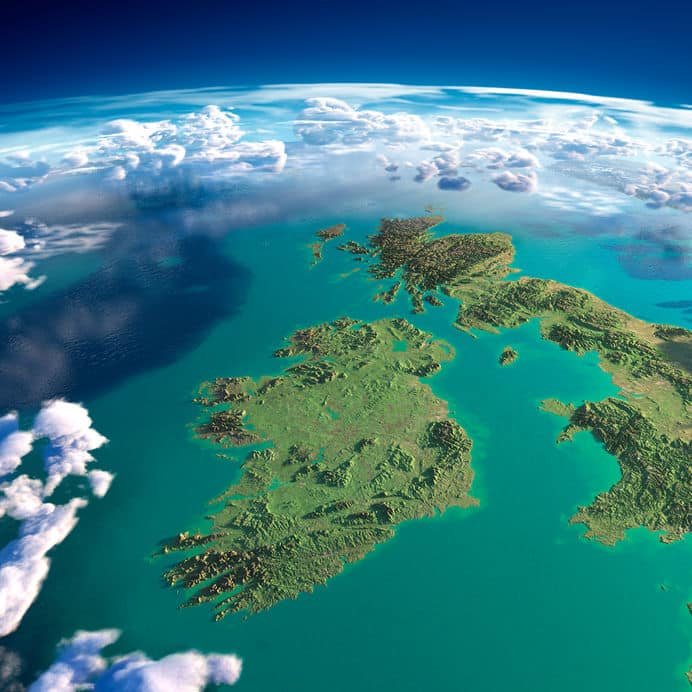 ireland and northern ireland from space