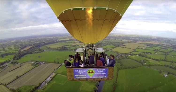 hot air baloon rides near dublin