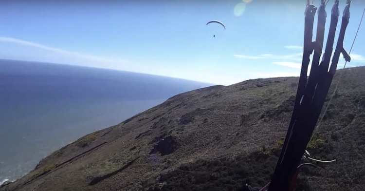 paragliding bray head ireland
