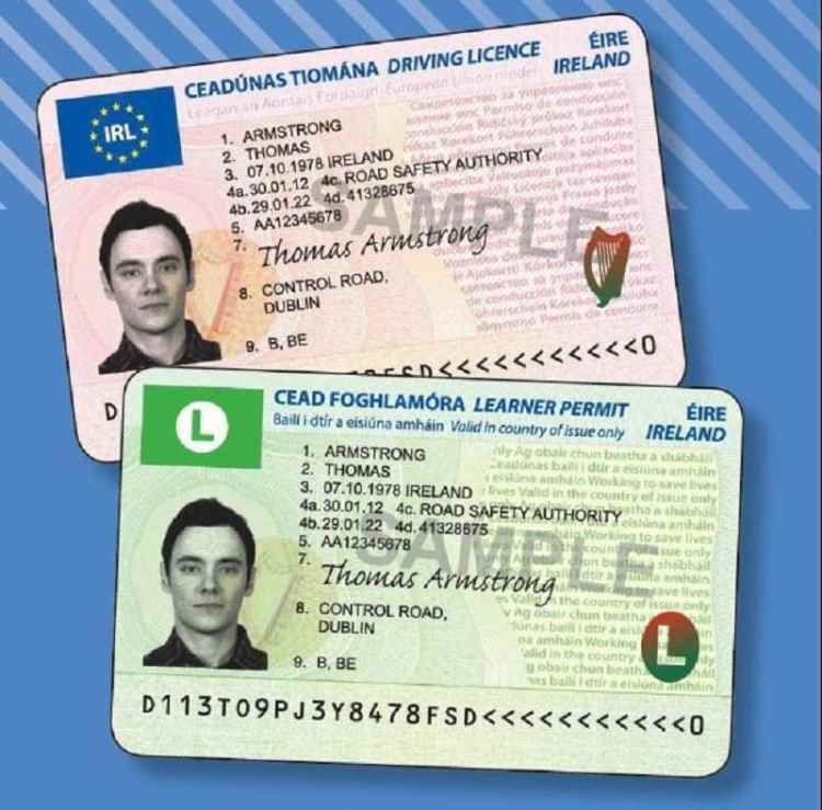 Picture of ireland driving licence