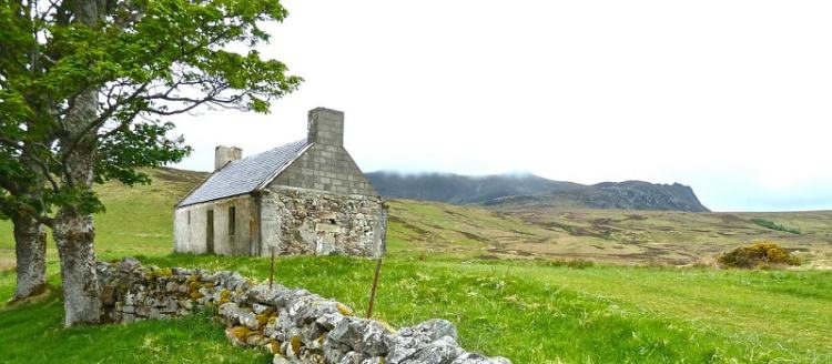 Picture of the farms and farmhouse in Ireland