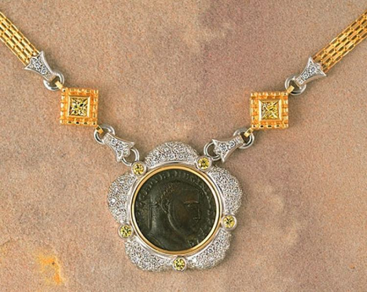 Picture of Roman coin jewelry