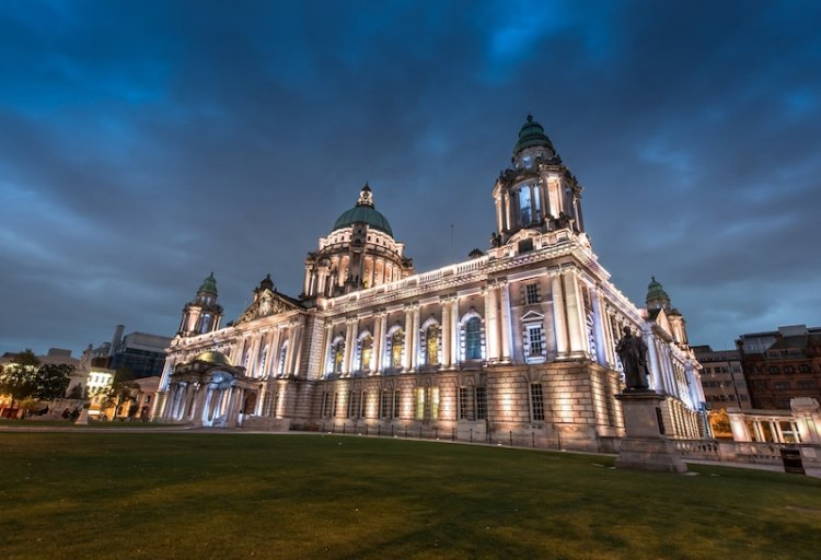 picture of northern ireland at night