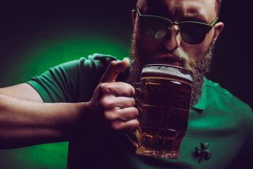 picture of male drinking in ireland