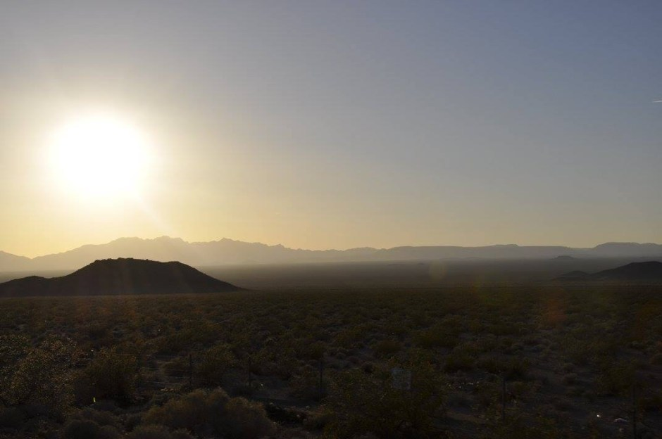 This was pretty much how our Mojave Desert part of the trip looked.