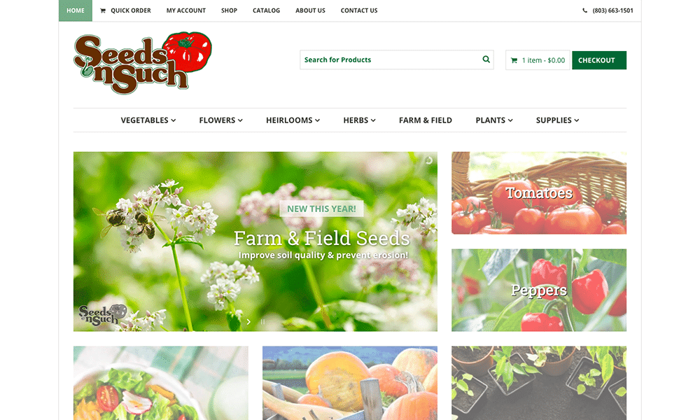 Seeds 'n Such is a mail-order seed company, and a large e-commerce client of mine.