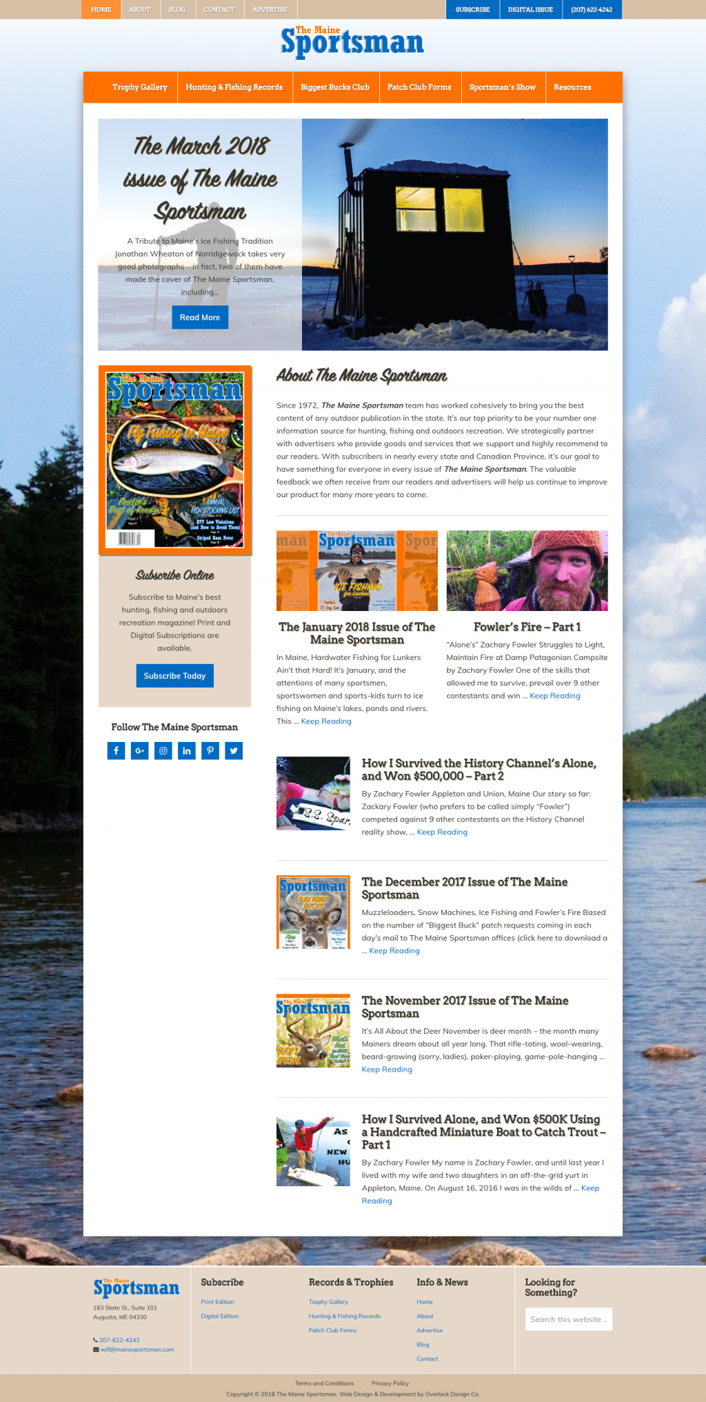 The Maine Sportsman Website