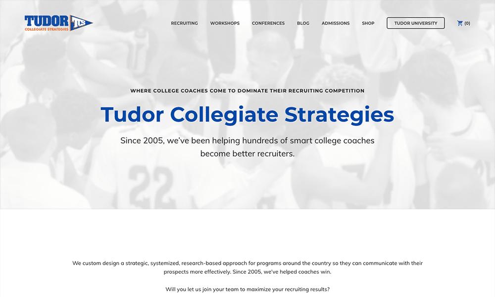 Dan Tudor's company, Tudor Collegiate Strategies, helps college coaches become better recruiters.
