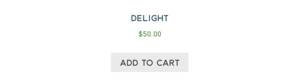 "A screenshot showing the button. It is light grey with dark grey text that says ""Add to cart"". It is sad."