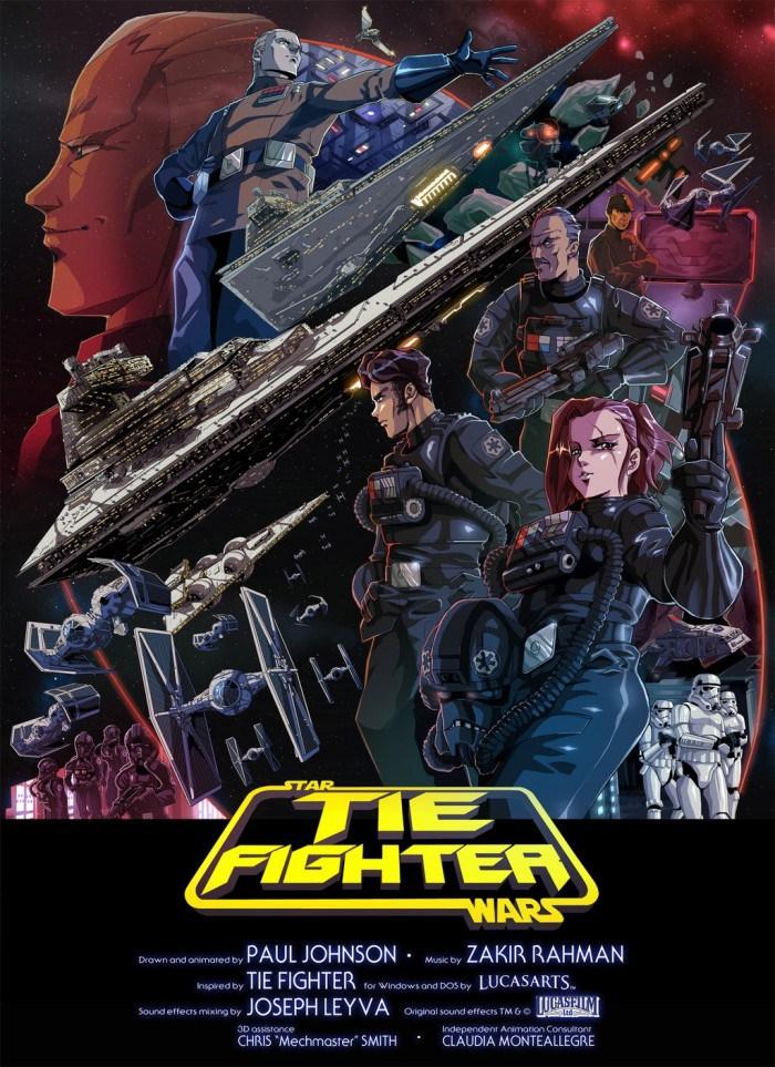 tie fighter star wars fan animation poster
