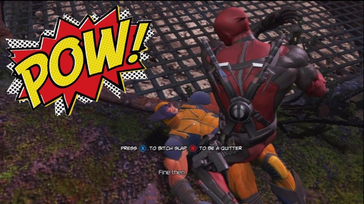 """Not gonna lie, I kinda got off on this. Also, the name of this picture is """"Deadpool-Pwns-Wolverine"""". #Winning"""