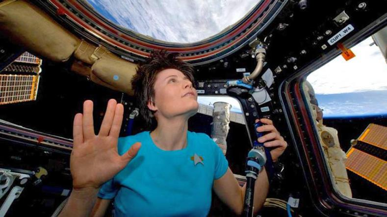 Astronaut Cosplays Star Trek In Space (And It's Awesome)