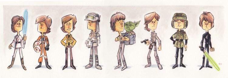 Evolution of Luke Skywalker final