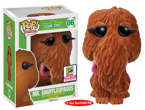 Sesame Street - 6 Flocked Mr. Snuffleupagus