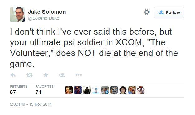 jake solomon tweet volunteer xcom