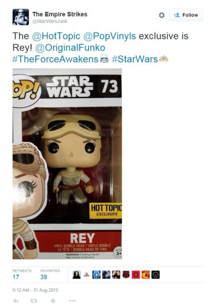 hot topic rey exclusive