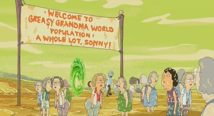 rick and morty - greasy grandma world