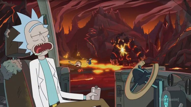 rick and morty - lava