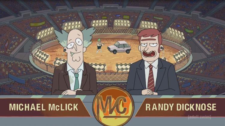 rick and morty - man vs car