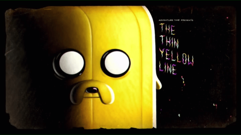 "the title card from ""The Thin Yellow Line"""