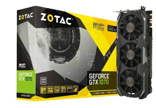 ZOTAC GeForce GTX 1070 с памятью GDDR5X