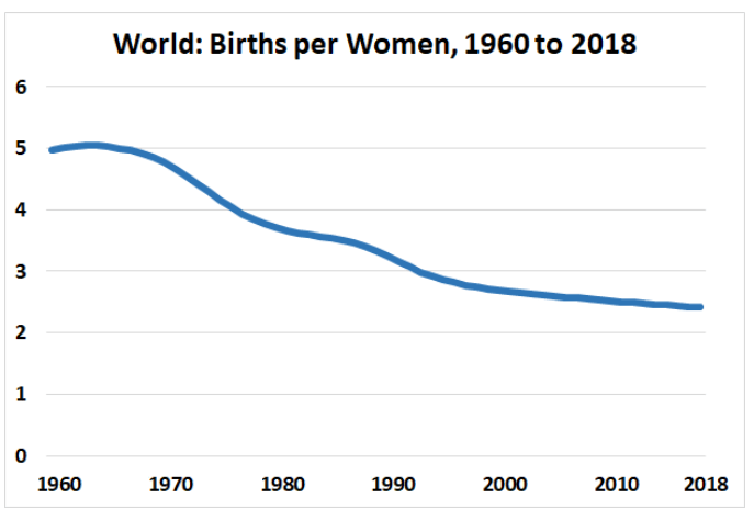 World births per women