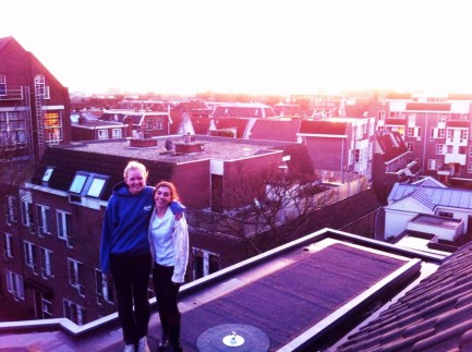 View of me and Emily on the roof!