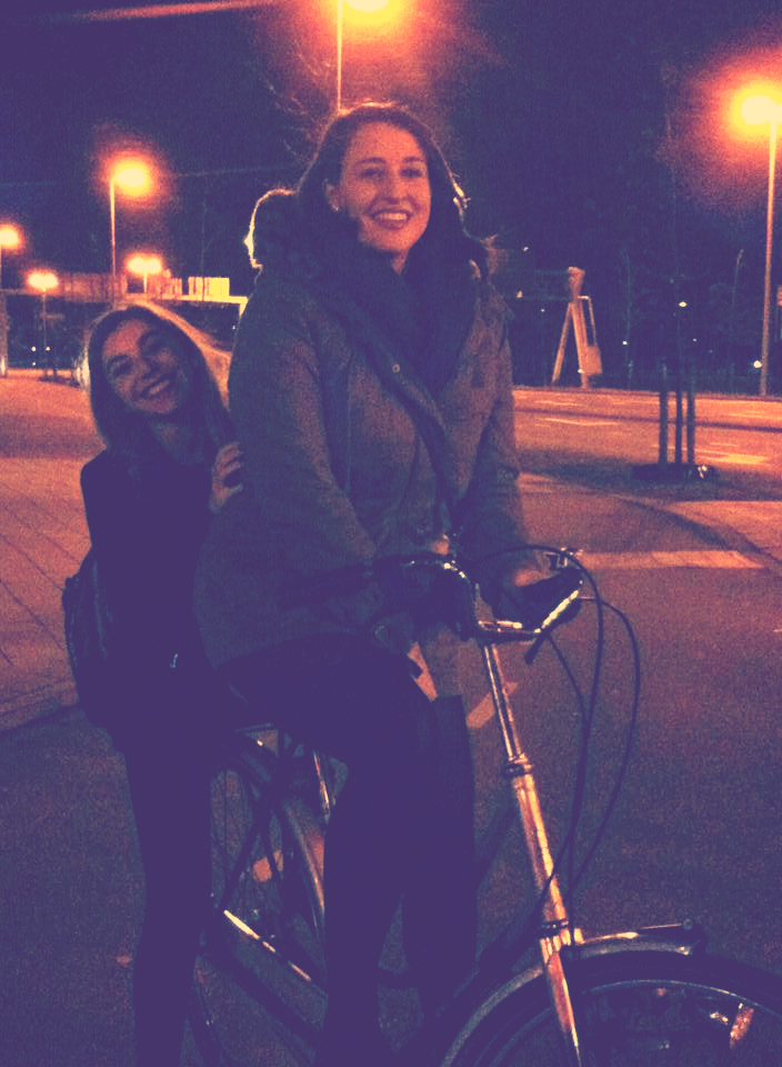 Riding on the back of a bike. Quite the adventure.