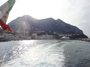 View of leaving Ana Capri and Capri