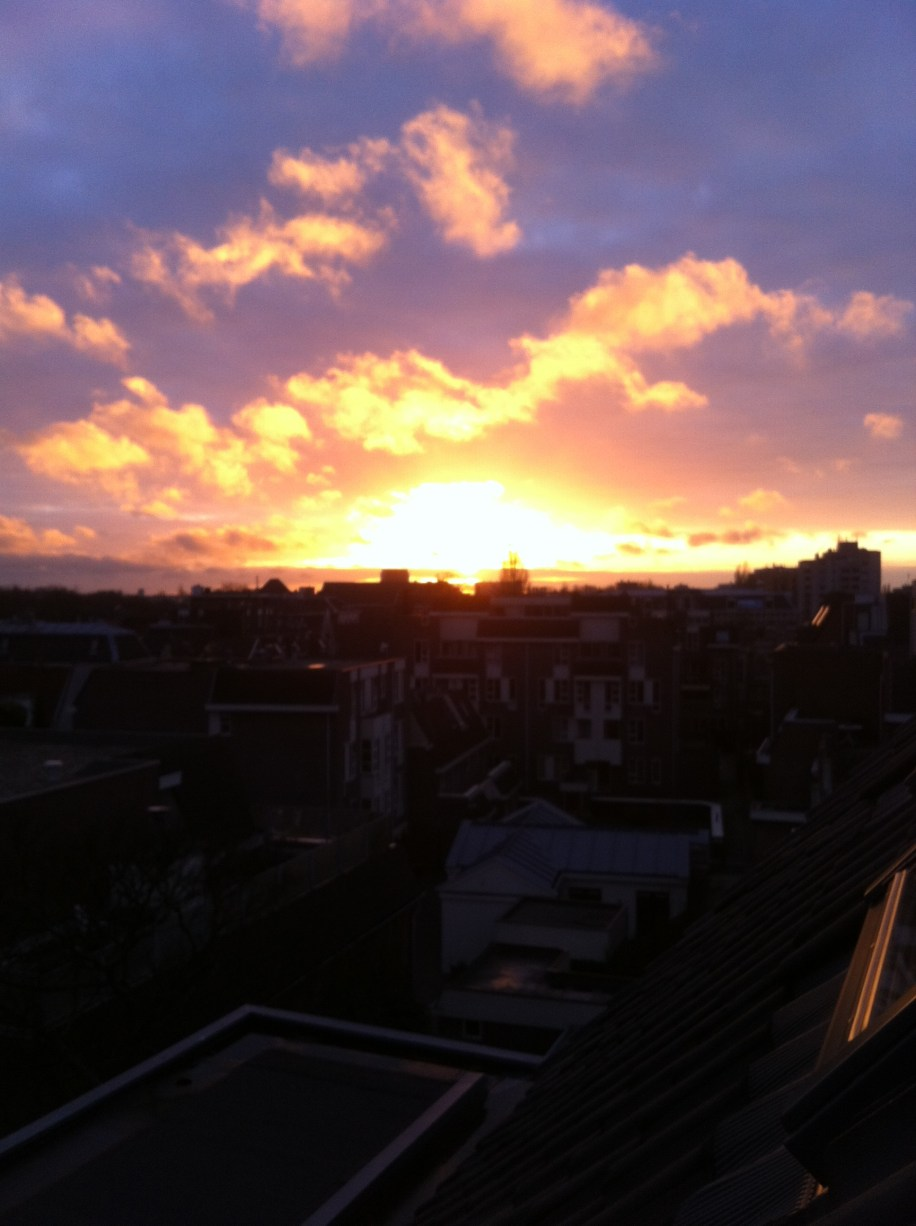 And of course, the Leiden sunset. One of the greatest aspects of my room.