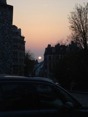Parisian sunset.