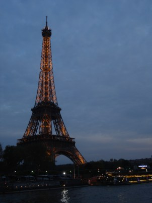 Eiffel Tower on the river cruise