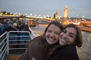 Sophie and I on the river cruise