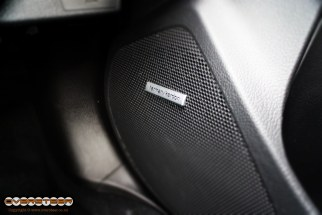 One thing we weren't expecting to be impressed by in the STi was the stereo. But we were wrong - Subaru have seen fit to equip the STi with a thumping 8-speaker Harmon Kardon audio system, complete with 6.1-inch touch screen, USB and Auxiliary inputs and Bluetooth connectivity. And a very big sound...