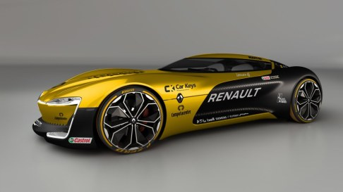This brings us nicely on to the Renault. Wow. The Trezor Concept was already an impressive vehicle - but with the yellow and black of the Renault 2017 F1 livery, it looks even more stunning. Perhaps more Coupe than Supercar, but it certainly has supercar looks.