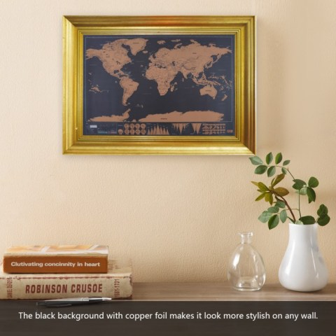 Scratch Map Frame Path Decorations Pictures Full Path Decoration - Scratch map frame