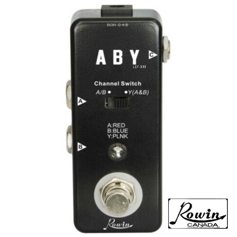 Overstock Guitars – ROWIN LEF-330 Micro A-B-Y channel switch Micro Pedal