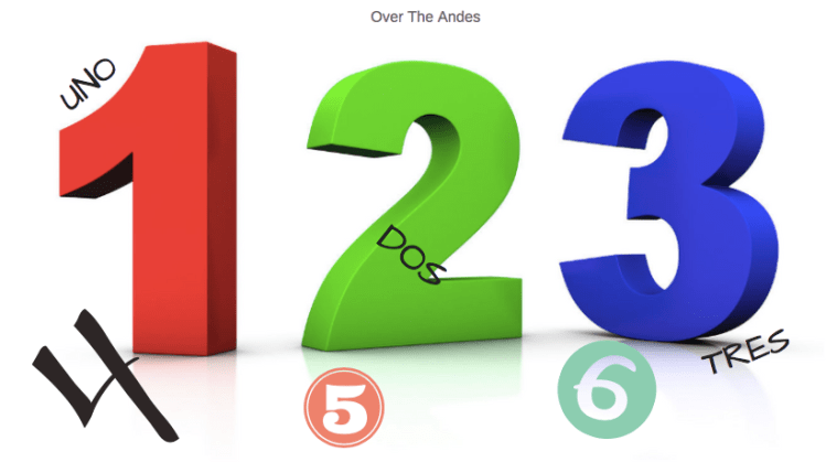 Lesson 7: Numbers, Days and Months - Over The Andes