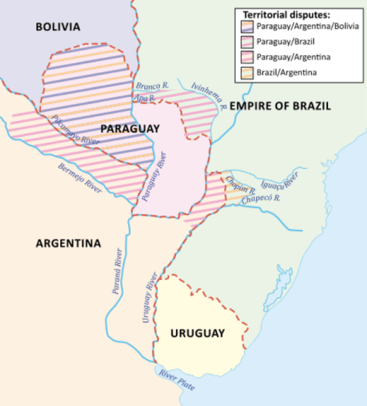 War of The Triple Alliance Disputed Areas