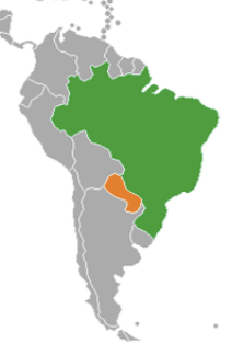 Brazil and Paraguay