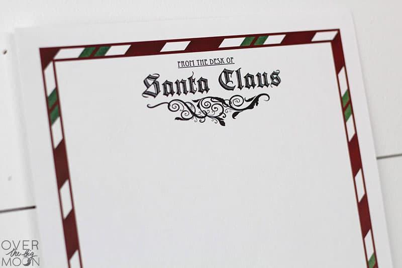 image about Printable Santa Stationary called Letter against Santa Printable